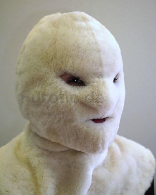 Pelz Maske, Haube - Genuine Fur Mask Bondage Hood - Fur Fetisch fétiche fourrure Pelzfetisch