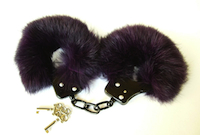 Echt Pelz Handschellen Genuine Fur Handcuffs Bondage Fesseln SM BDSM Pelz Fetisch Fur Fetisch fétiche fourrure